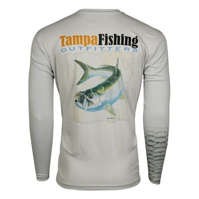 TFO Tarpon Map L/S-Grey