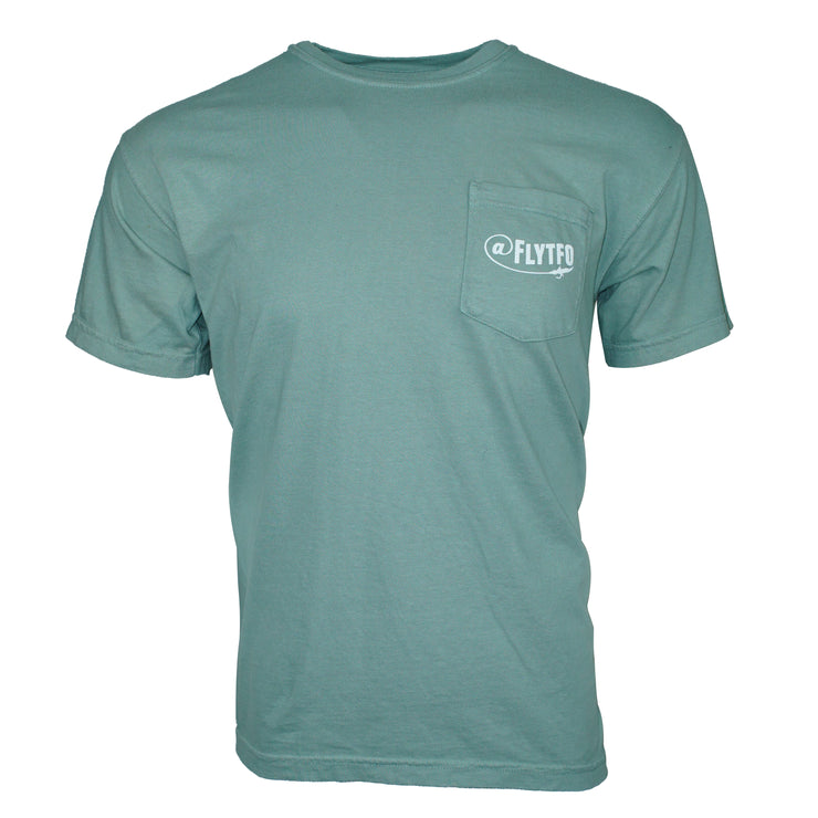 Fly TFO T-Shirt Pastel Green Pocket Tee