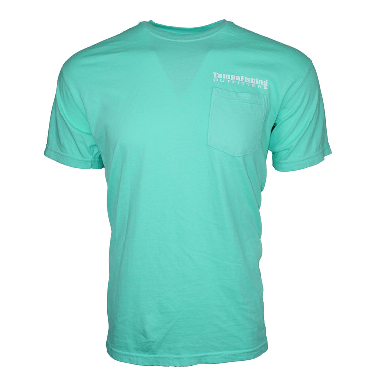 TFO T-Shirt Island Reef Green Pocket Tee