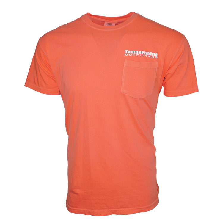 TFO T-Shirt Salmon Pocket Tee