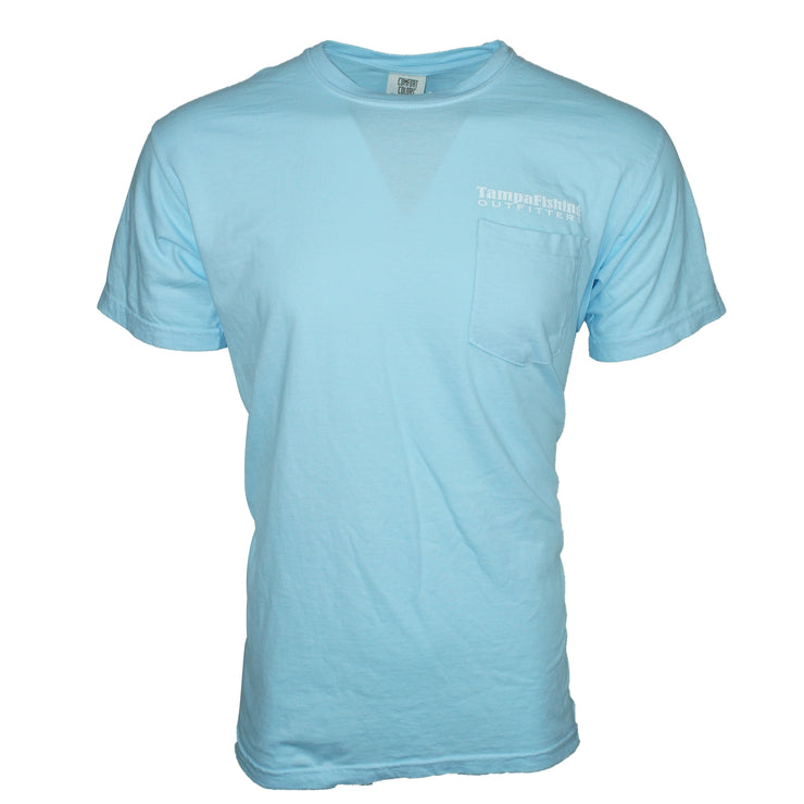 TFO T-Shirt Light Blue Pocket Tee