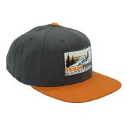 TFO Heather Charcoal & Orange Flatbill Hat!