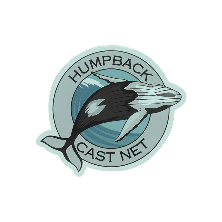 Humpback Cast Net Logo Sticker