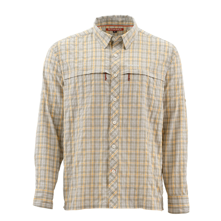 Simms Stone Cold LS Shirt Sandstone Plaid Small
