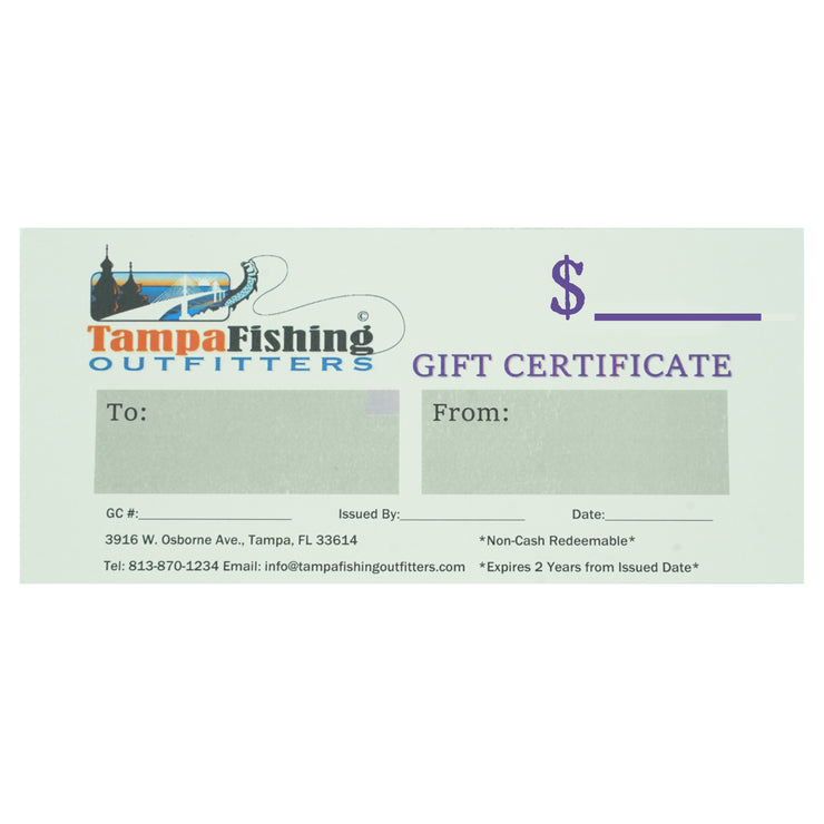 Custom Amount Gift Certificates