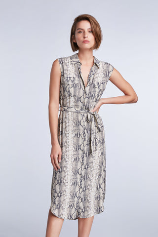 Set Snake Print Shirtdress