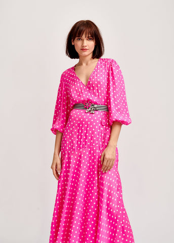 Vazongas Polka Dot Wrap dress by Essentiel Antwerp