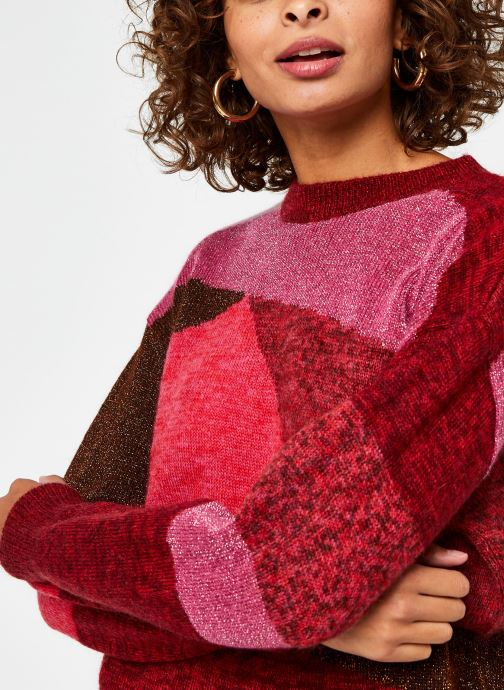 Suncoo Pull Passioni jaquard knit patchwork effect sweater.