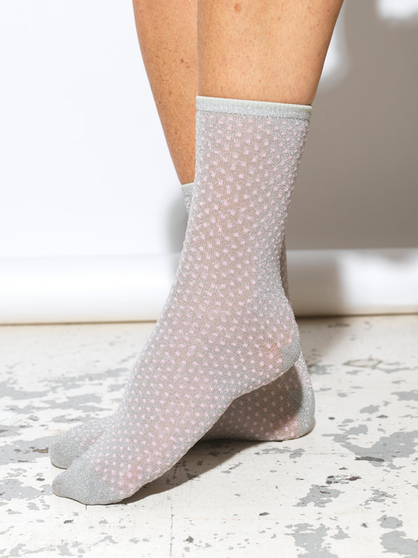 Dina Small Dots Silver Socks