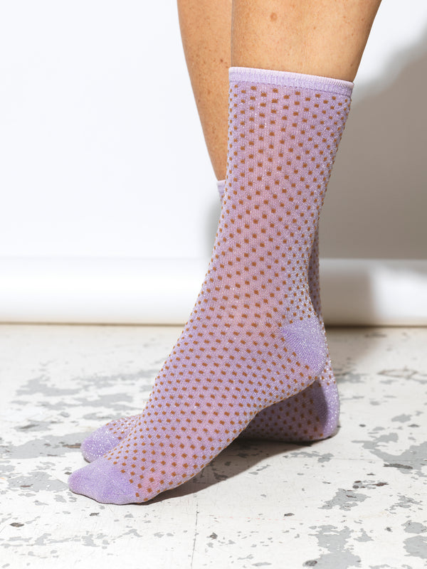 Dina Small Dots Purple Socks