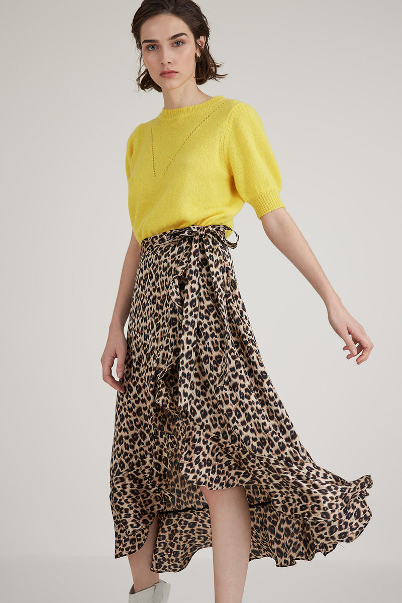 Suncoo Fabienne Animal Print Skirt