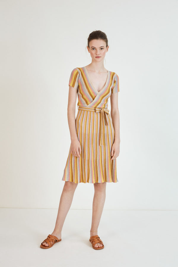 Carole Knitted Stripe Dress