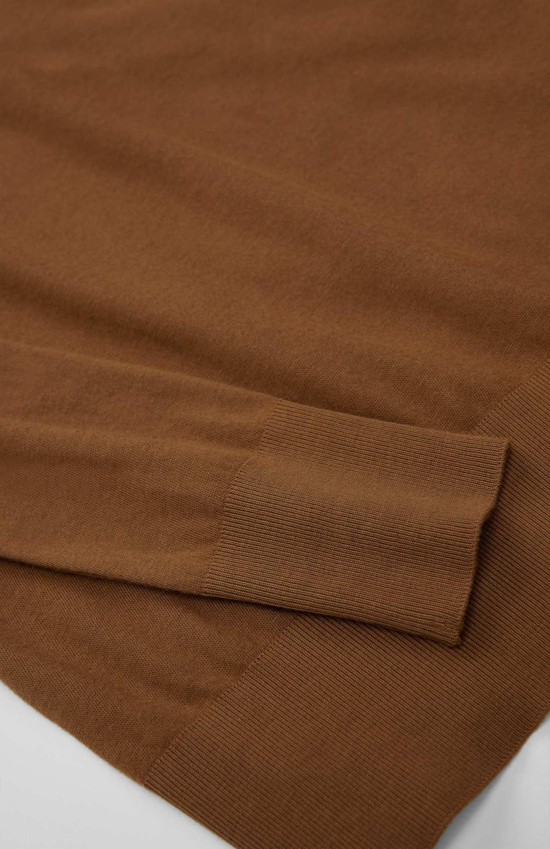 Loreak Under roll neck long sleeve T-shirt in Toffee.