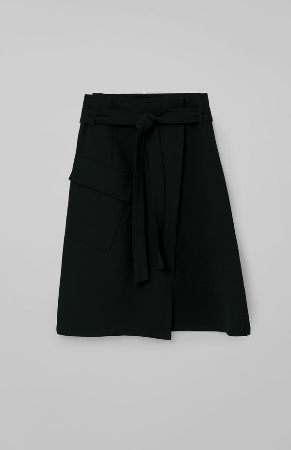 Loreak Brief wrap around skirt in black.