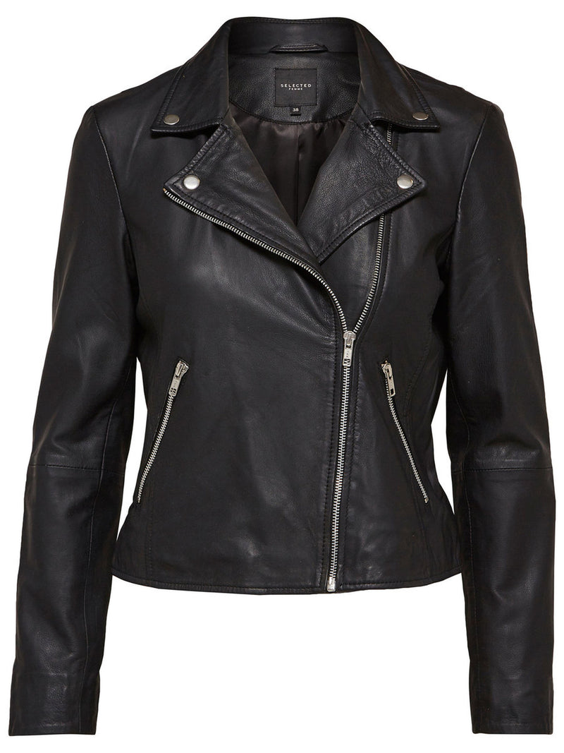 SLFMarlen Black Leather Jacket