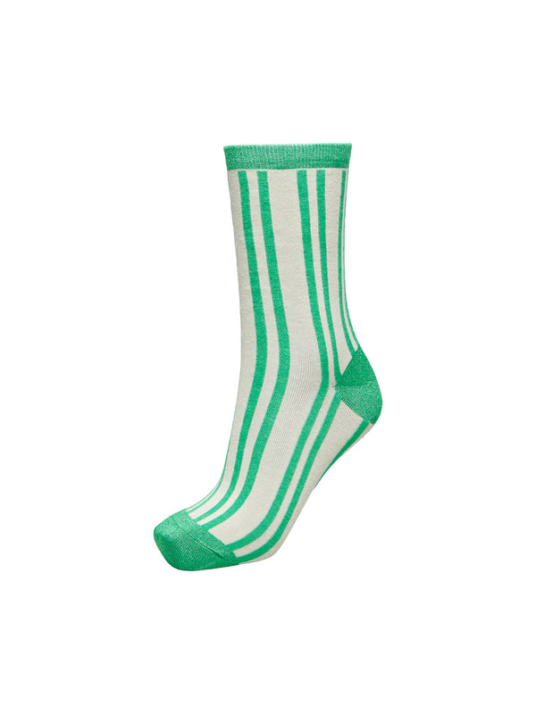 SLFVida Striped Green Sock