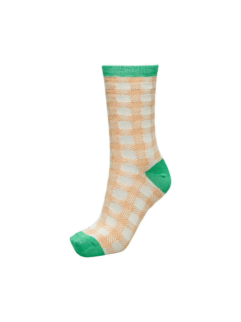 SLFVida Sandshell checked sock