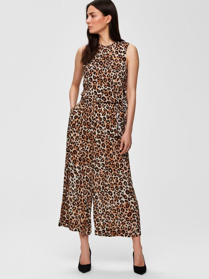 SLFLeoni Animal Print Jumpsuit