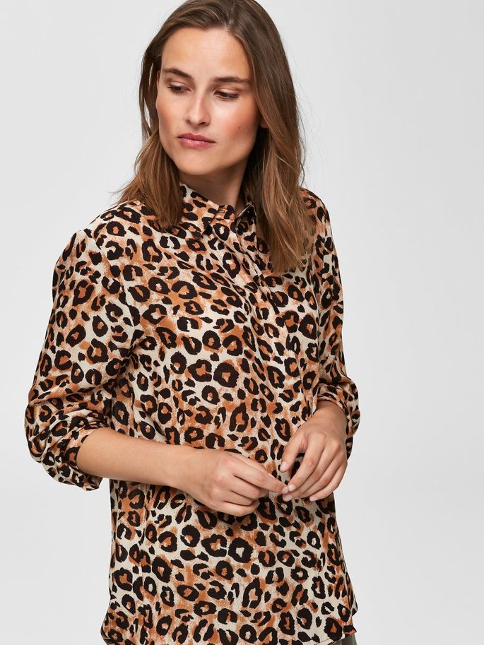 SLFLeoni Animal Print Shirt