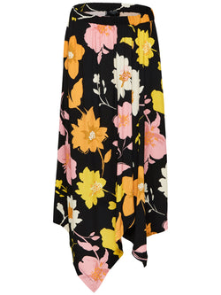 SLFCadence midi length floral printed skirt with asymmetric hem by Selected Femme
