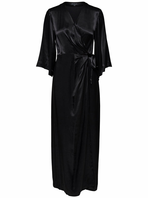 SLFDakota velvet ankle wrap dress by Selected Femme