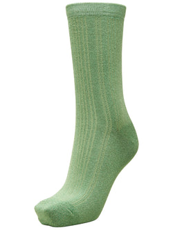 SLFLana Green Lurex Sparkly Ribbed Sock