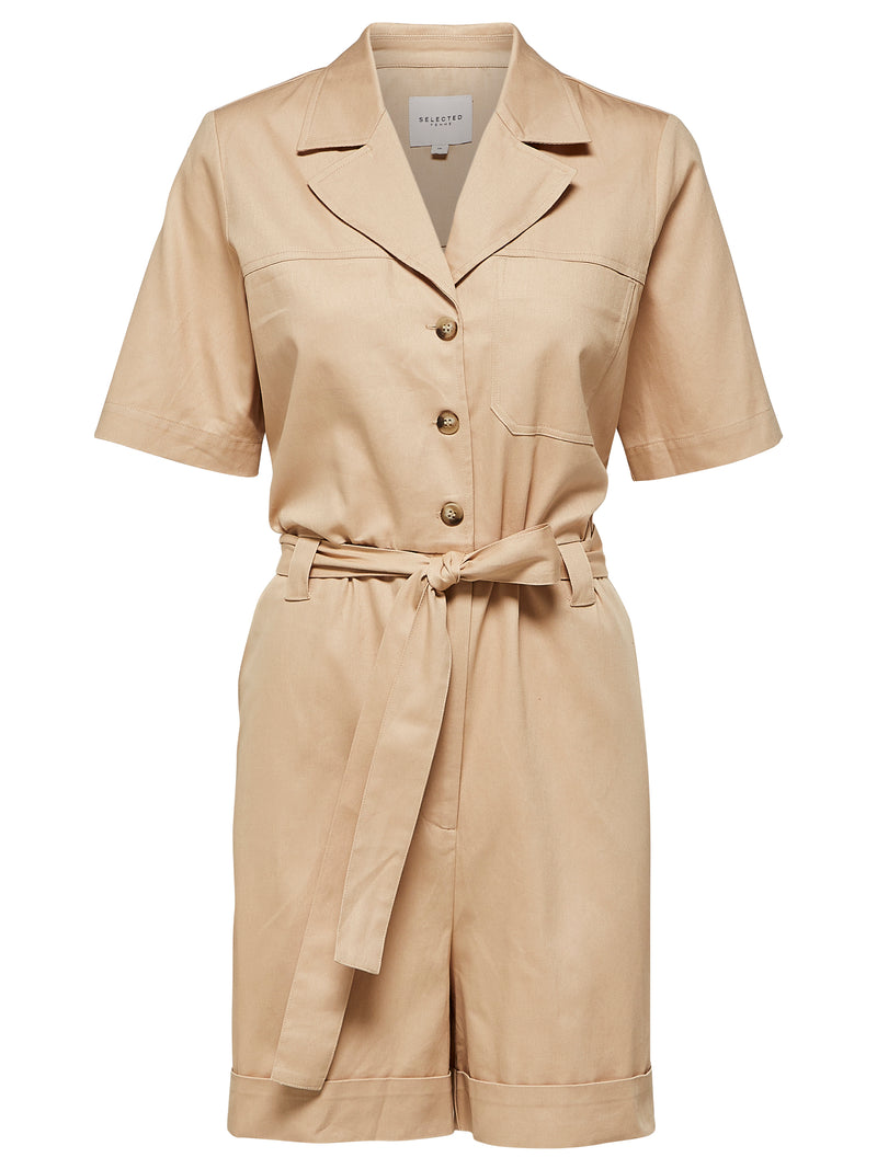 SLFWave Safari Style Playsuit in Sand