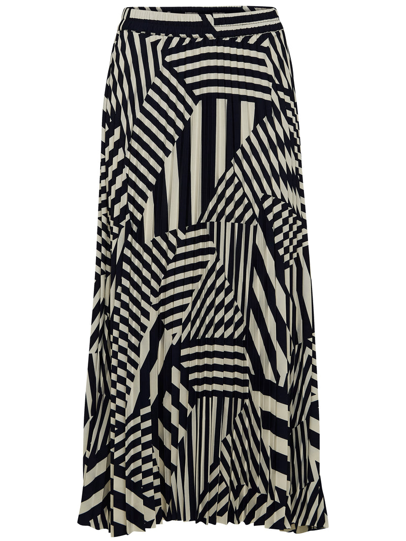 SLFAlexis midi stripe print pleated skirt by Selected Femme