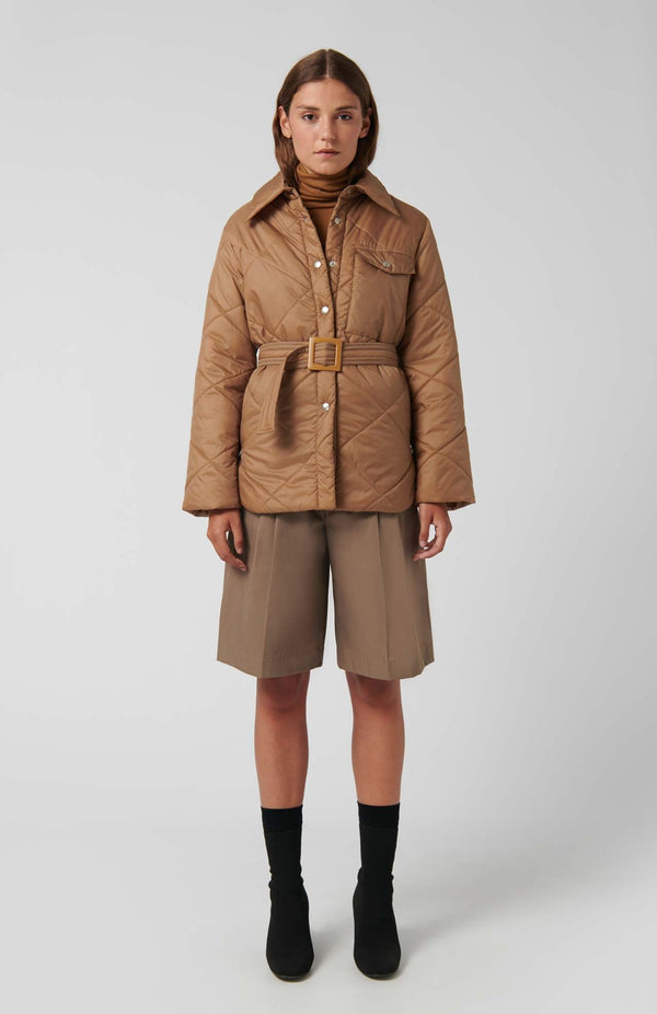 Loreak Niko padded jacket in dark camel