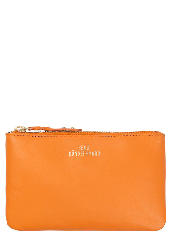 becksondergaard lyla orange zip purse