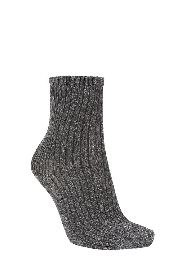 Dina Glitz Ribbed Sock