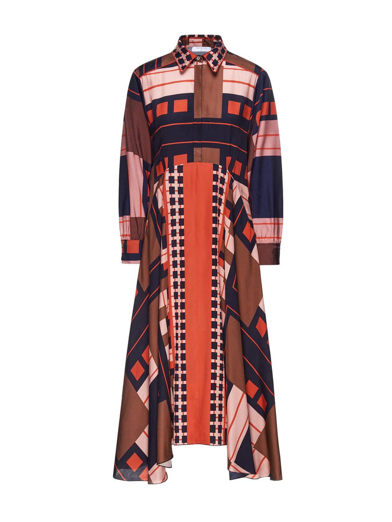 Beatrice B Geometric Shirtdress