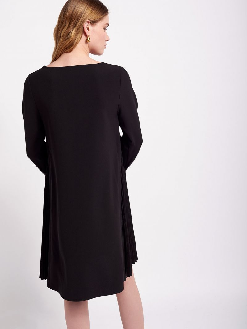 Beatrice B crepe shift dress with pleated side detail
