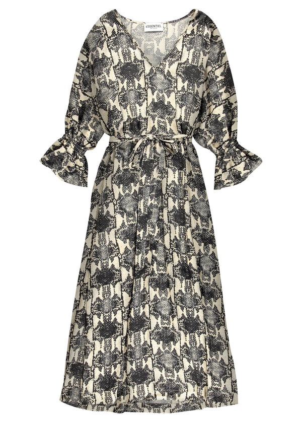 Essentiel Antwerp Thunderthighs snake print midi shirt dress