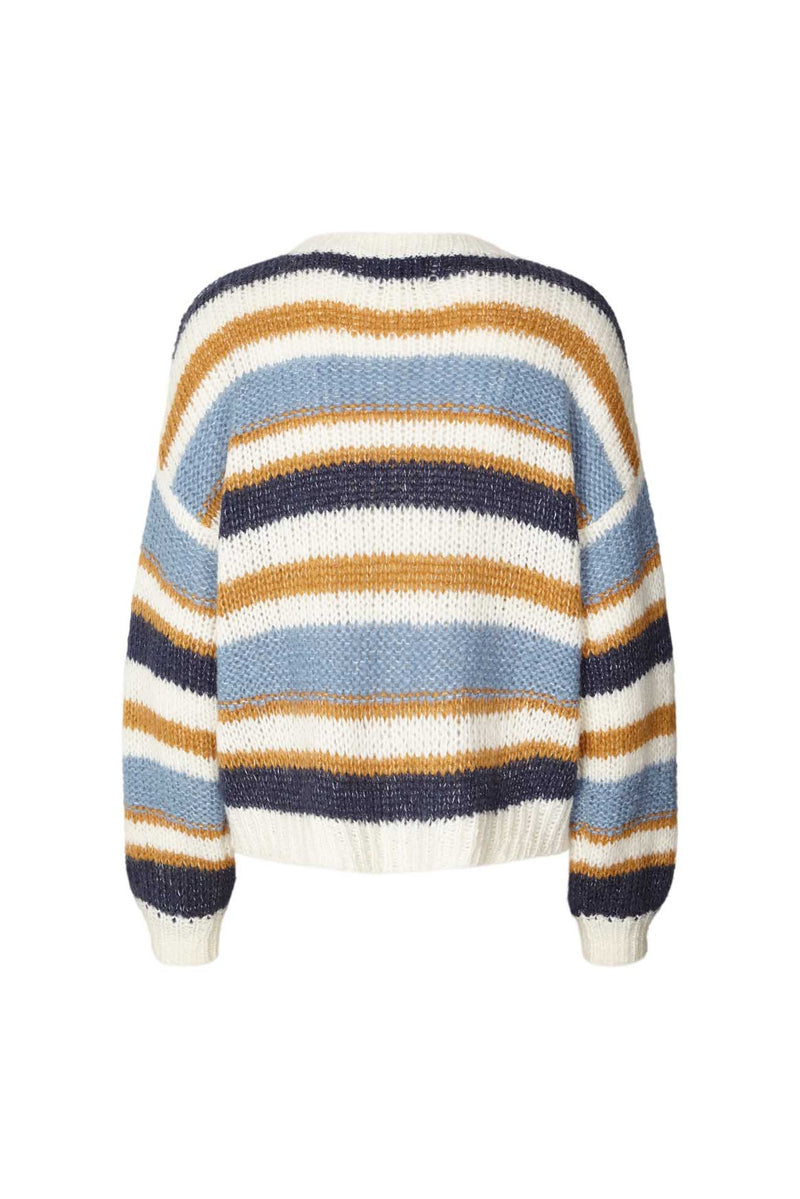 Lollys Laundry Terry striped sweater in blue