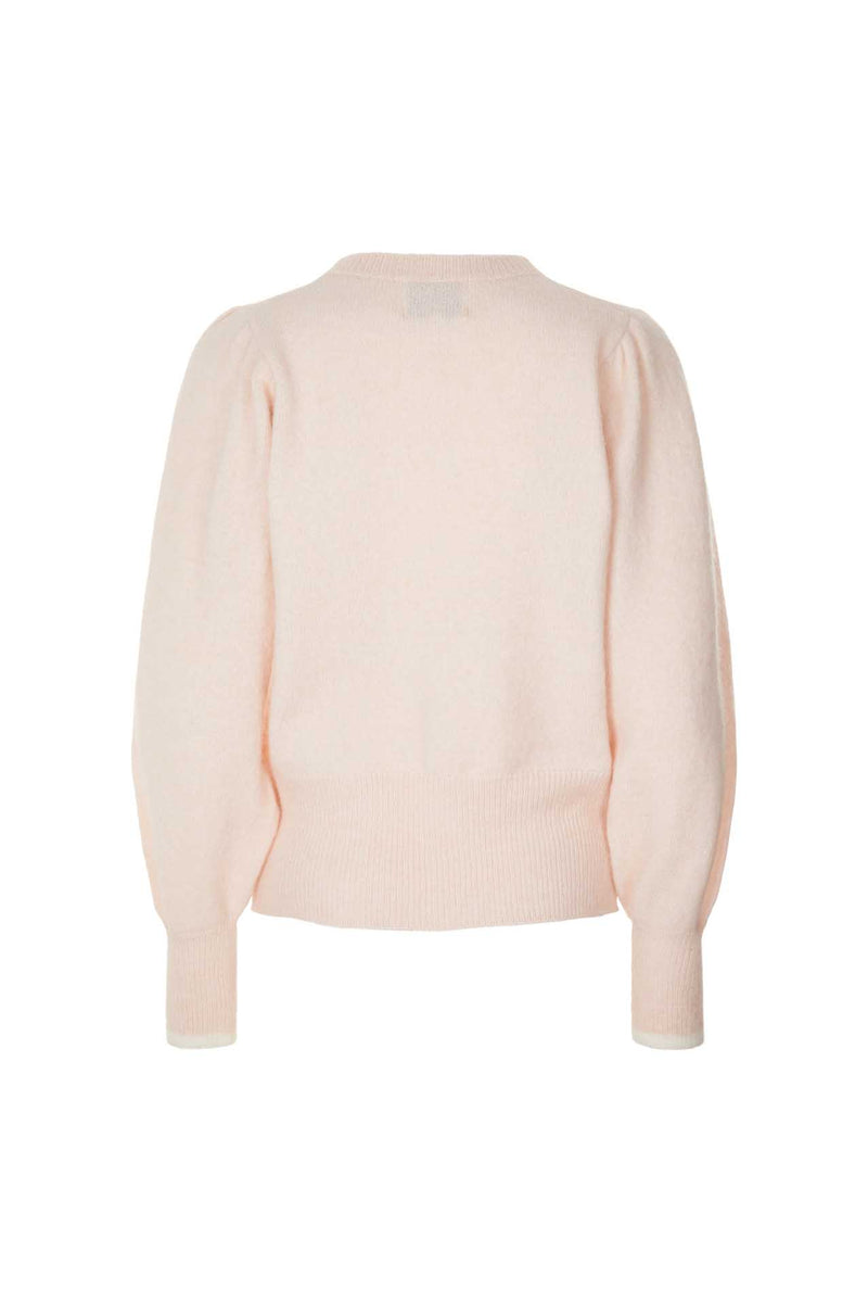 Lollys Laundry Laura V neck cardigan in pale pink