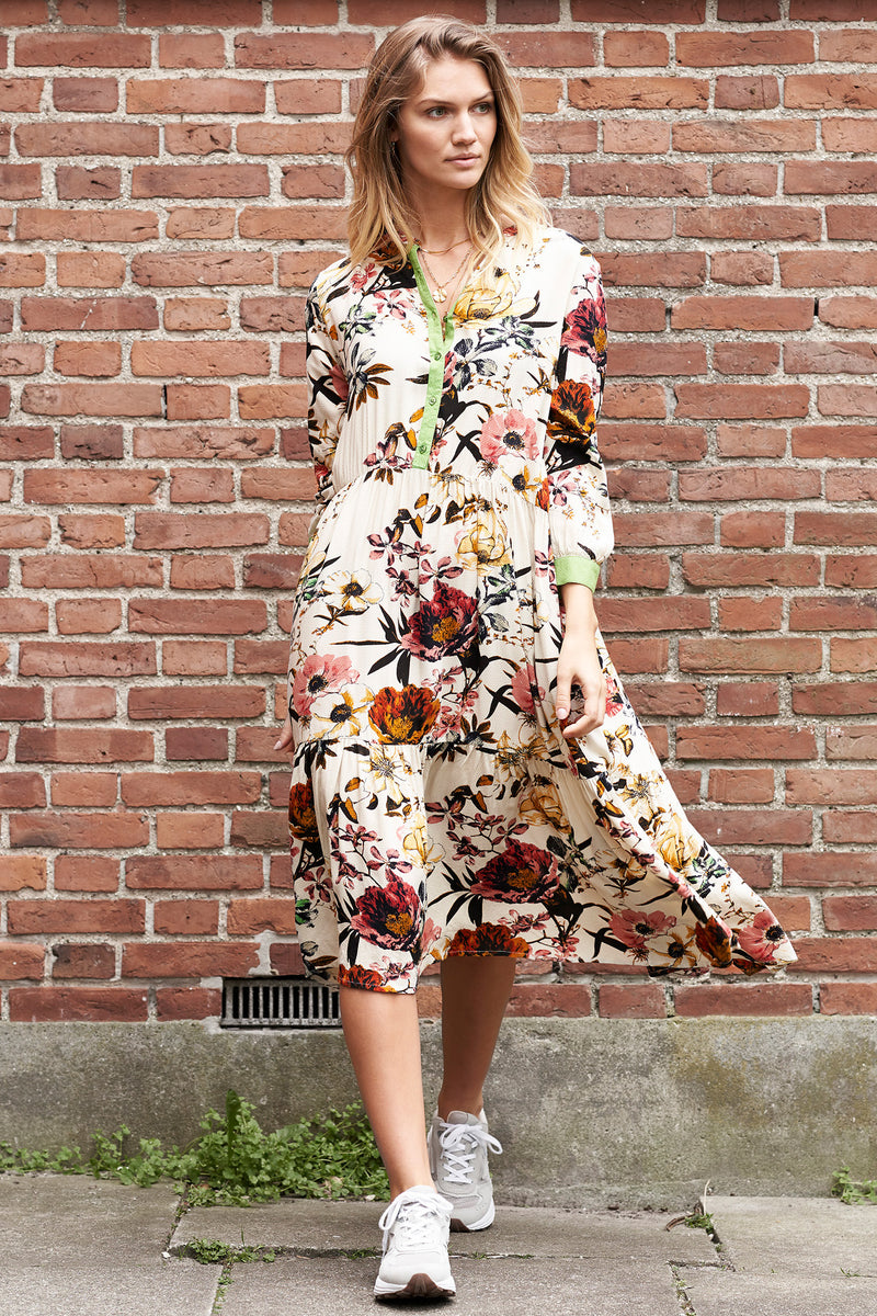 Lollys Laundry Naja Floral Print Midi Dress