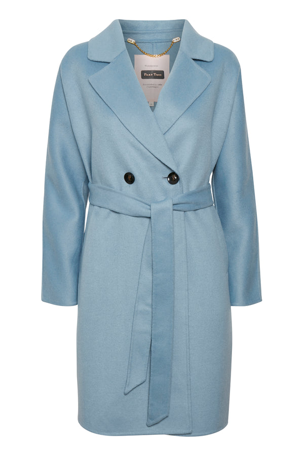 Part Two Misty Dusty Blue Coat