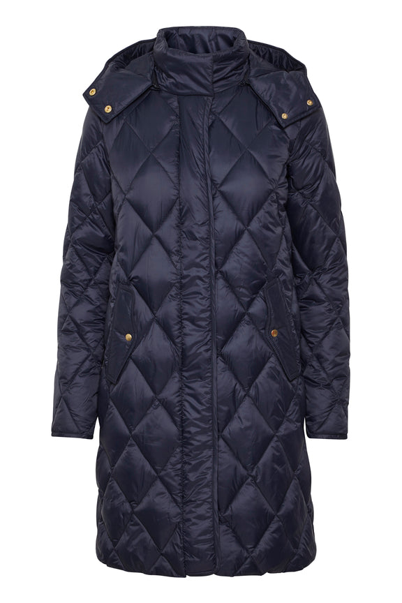 Part Two Sandra Padded Navy Coat