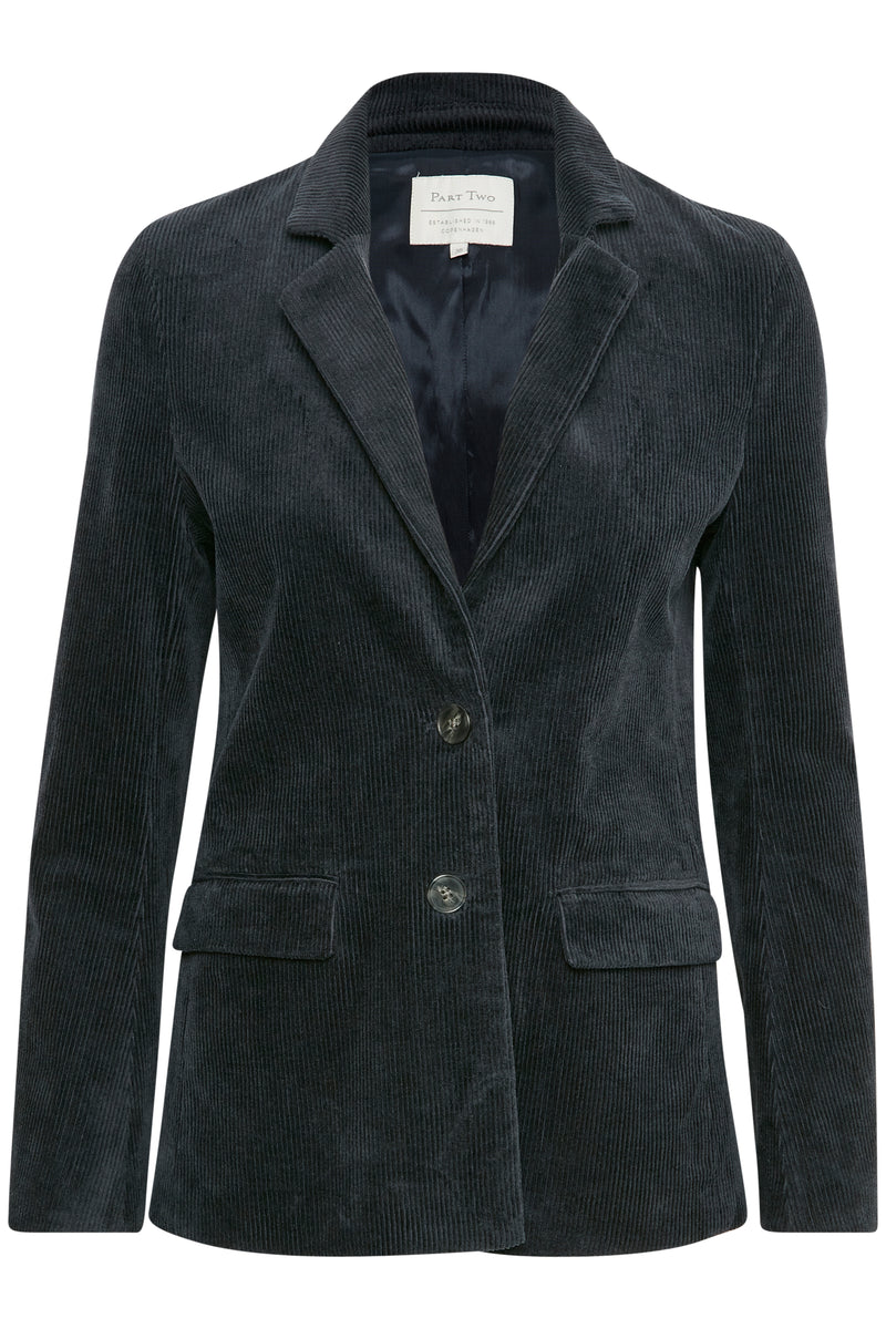 Part Two Trina Navy Cord Jacket