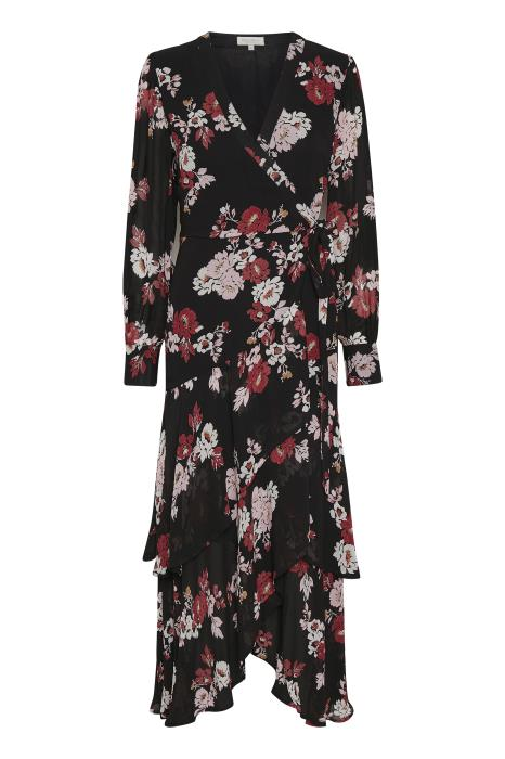 Part Two Viviette floral print wrap dress with ruffle hem