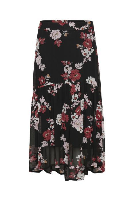 Part Two floral print tiered floaty midi skirt