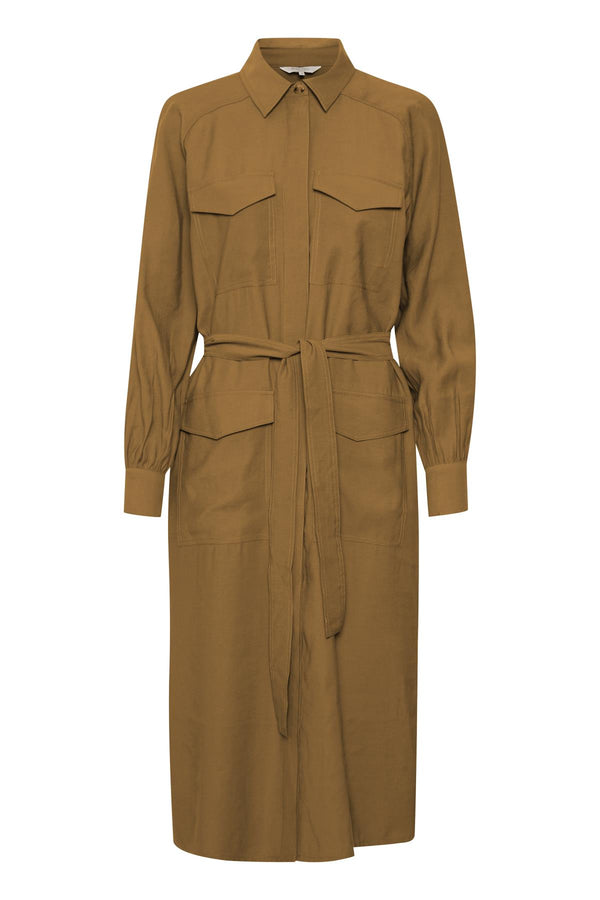 Part Two Beatrix button front utility style shirt dress.