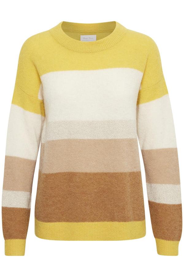 Part Two Blia lightweight alpaca and wool blend crew neck striped sweater