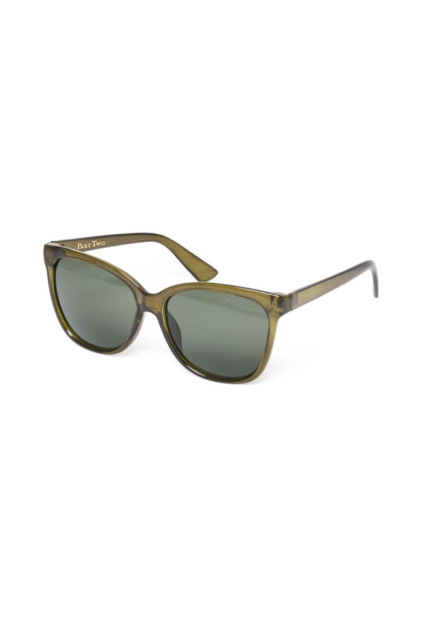 Part Two Barea green wayfarer sunglasses