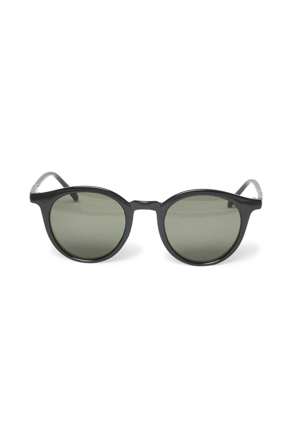 Part Two Banou black wayfarer sunglasses with slightly rounded frames