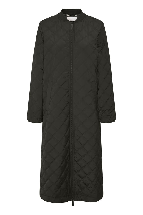 Edith Black Padded Coat by Part Two