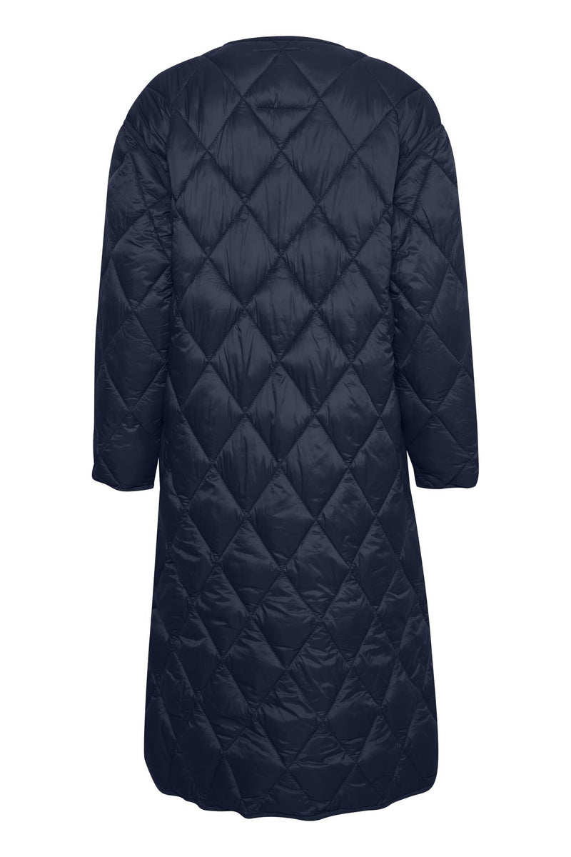 Part Two Eleanora Long Padded Coat in Navy