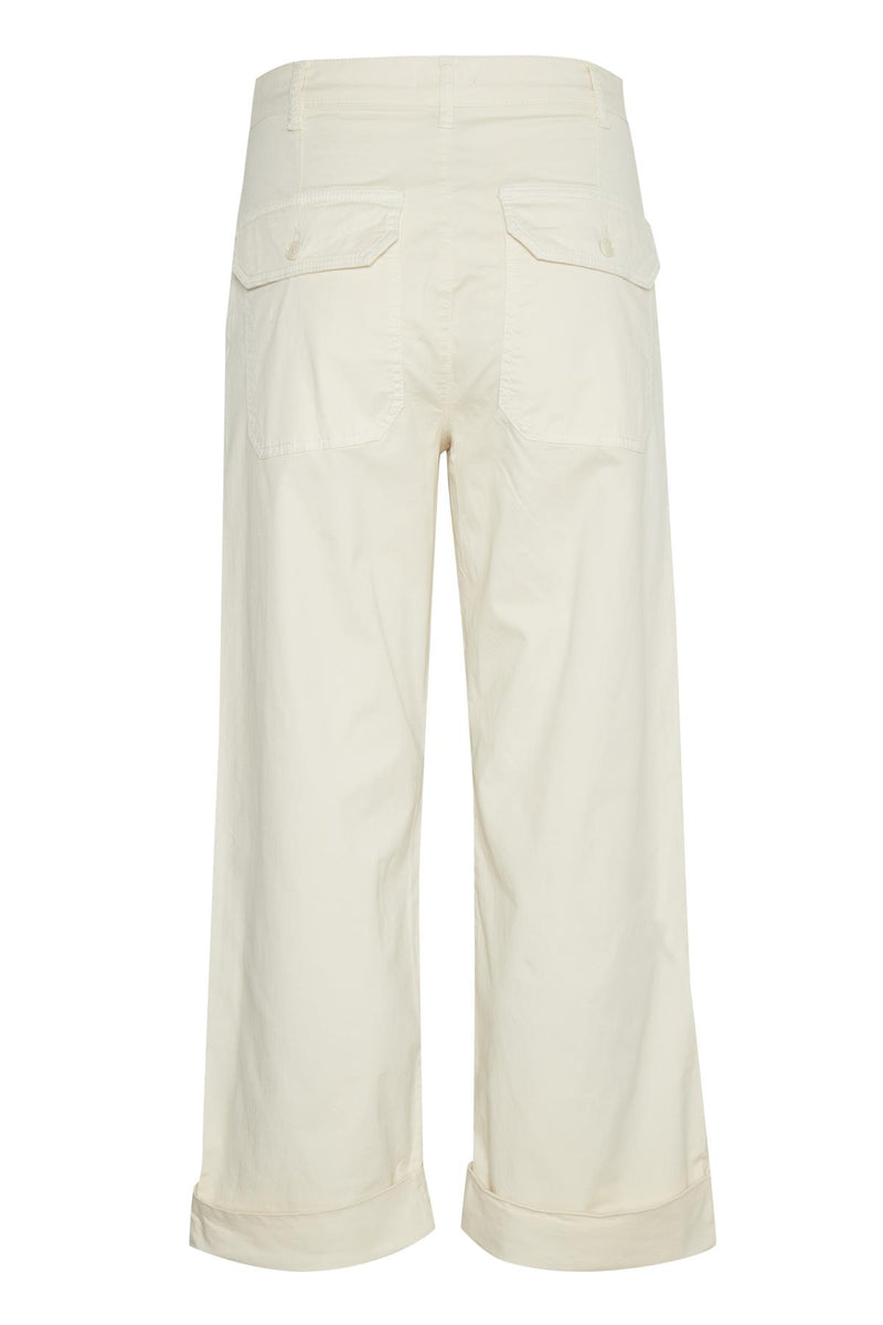 Part Two Danja Cream Wide Leg Trouser