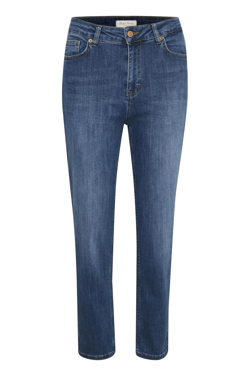 Part Two Drea Washed Denim Straight Leg Jean